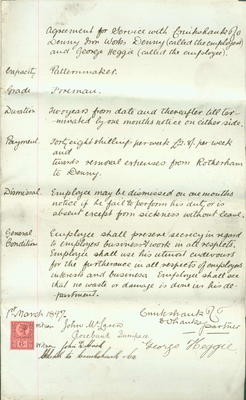 A683.084; Employment contract of patternmaker