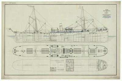 A1041.040/01; Ship Plan of Edith, General arrangement
