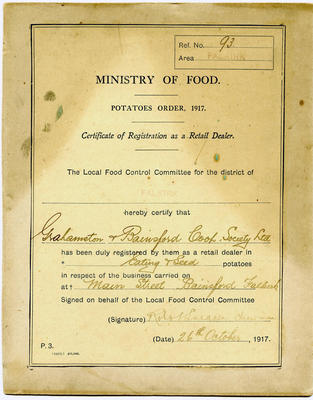 A295.001; Certificate of registration