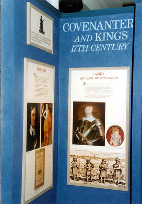 """P43750; Display from """"Story of Callendar House"""" exhibition"""