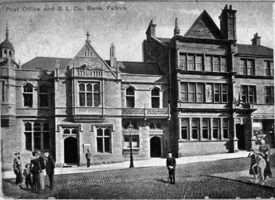 """P03788; """"Post Office and B.L. Co Bank, Falkirk"""""""