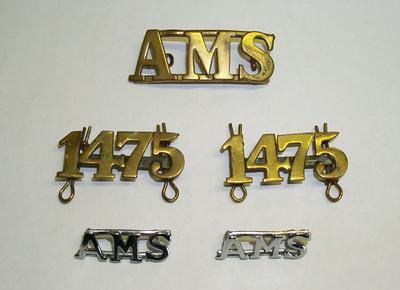 "2012-001-003; badge; ""AMS"""