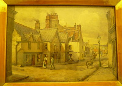 """1979-008-002; painting watercolour; """"West End, Bo'ness"""""""