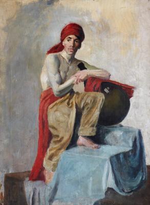 "1994-036-001; oil painting; ""Arabian man"""