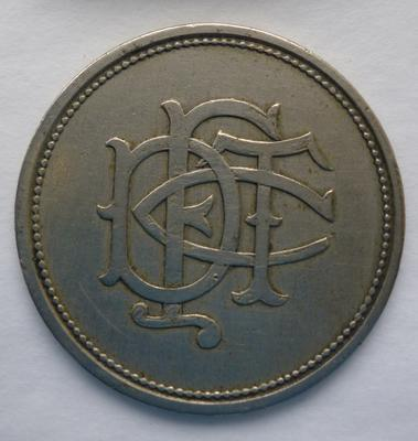 1988-080-001; token; transport (Falkirk & District Tramways Co.)