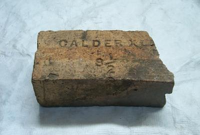 1985-007-013; brick; refractory