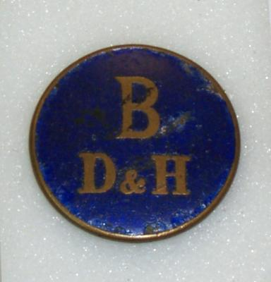 """1999-022-001; badge; """"Bo'ness Dock and Harbour ID"""""""