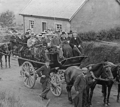 P16667; Horse-drawn bus, Campbeltown