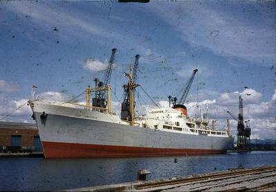 P44603; Ship 'Port Townsville' at Grangemouth docks