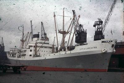 P44578; Ship 'City of Lancaster' at Grangemouth docks