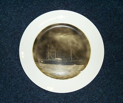 """2001-011-001; plate; """"SS Caroline"""""""