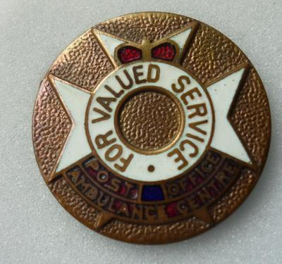 2001-018-006; badge; first aid