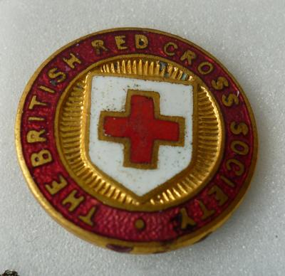 "2001-018-012; badge; ""British Red Cross"""