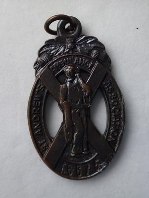 "2001-018-014; badge; ""St Andrews Ambulance"""