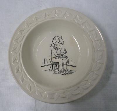 1977-083-001; plate; dessert
