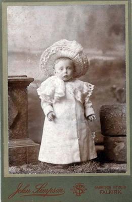 P19462; Studio portrait of young child