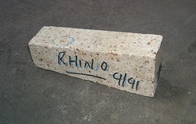 2001-083-006; brick; refractory