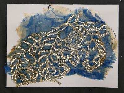 1985-086-001; section of dress; wedding