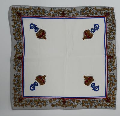 2002-008-002; handkerchief; commemorative