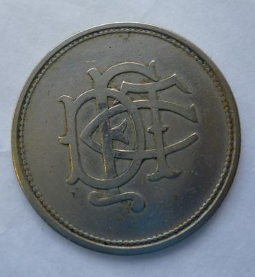 1994-011-001; token; transport (Falkirk & District Tramways Co.)