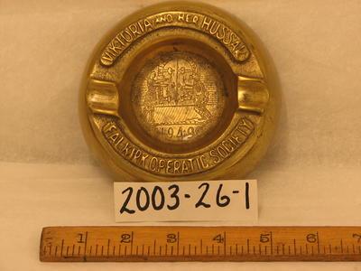 2003-026-001; ashtray