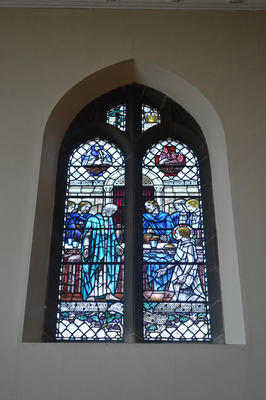 P45730; Stained glass window, Erskine Parish Church