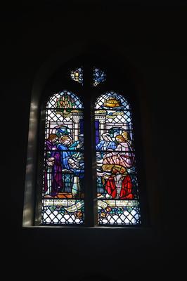P45731; Stained glass window, Erskine Parish Church