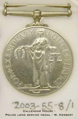 2003-055-008; medal; Police Service