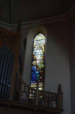 P45734; Stained glass window, Erskine Parish Church