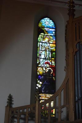 P45735; Stained glass window, Erskine Parish Church