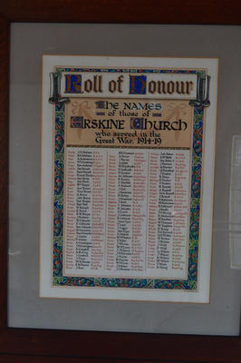 P45736; Roll of Honour, Erskine Parish church