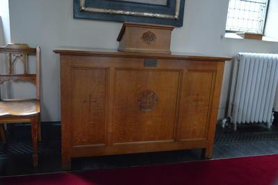 P45737; Side board, Erskine Parish church