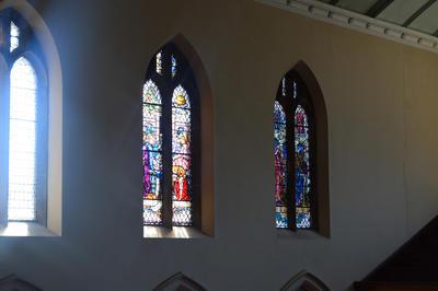 P45738; Stained glass windows, Erskine Parish Church