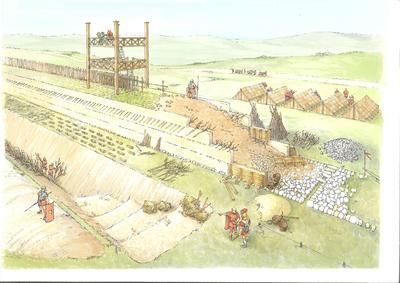 "2000-033-010; drawing; ""Antonine Wall  in Callendar Park"""