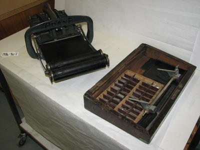 1986-096-001; printing press