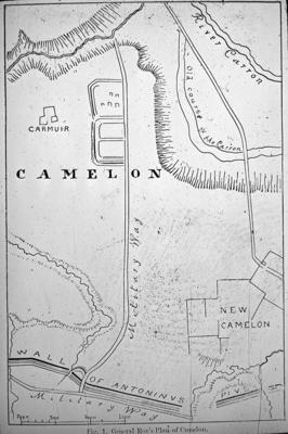 P01494; Roy's map (?) showing Camelon Roman fort
