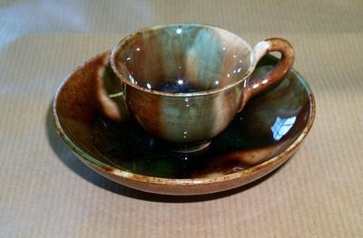 2005-020-157; cup and saucer; miniature