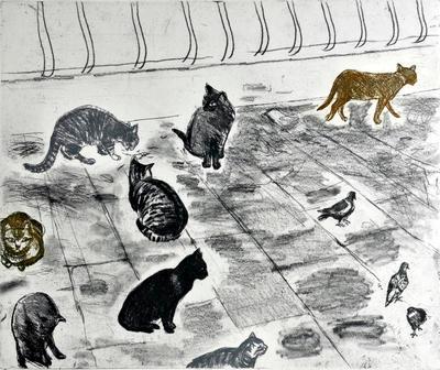 "2005-016-008; print; ""Venice Cats"""