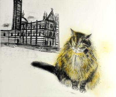 """2005-016-010; print; """"Sienese Cat"""""""