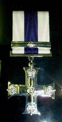 "2007-015-001; medal; ""Military Cross (MC)"" (with bar)"