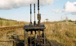 Railway hand levers near Kinneil.  .