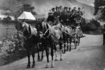 Excursion group on horse drawn transport