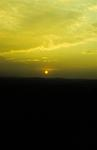 View of sun setting over Bo'mains Reservoir