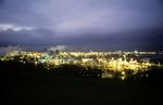 Grangemouth chemical complex from Inveravon at night