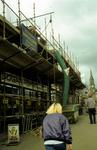 Falkirk High St east end during refurbishment