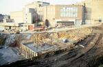 Howgate Shopping Centre site from Pleasance during construction
