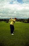 Golfer at Glenbervie Golf Course, Larbert