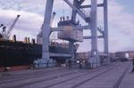 Unloading containers at Grangemouth Docks