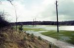 River Carron flooding at South Broomage
