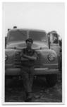 Man with A McAllister & Son  Lorry